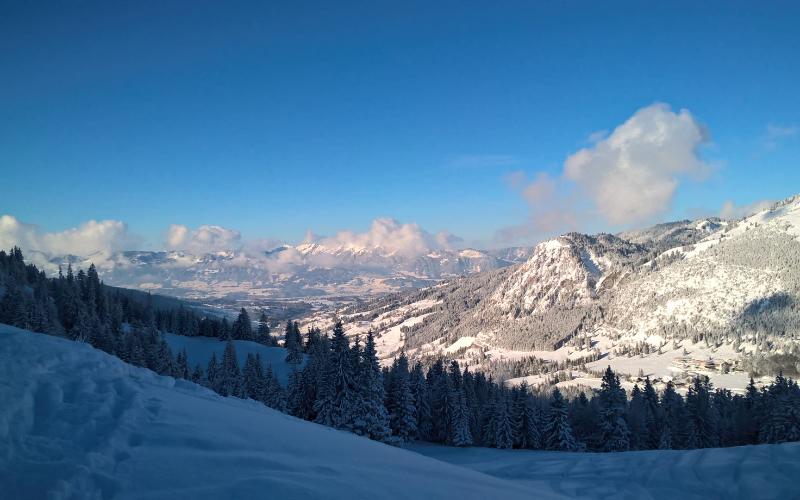 Blick auf den Hirschberg | Haus Alpenblick in Oberjoch